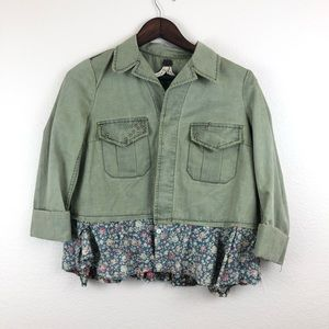 We the free Free People Army Green Jacket